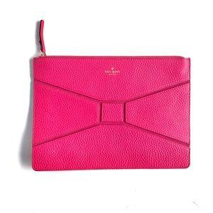 💘Kate Spade Bridge Place Gia Bow Clutch Hot Pink
